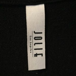 JOLIE LOS ANGELES Sleeveless Black Hoodie Sz Sm